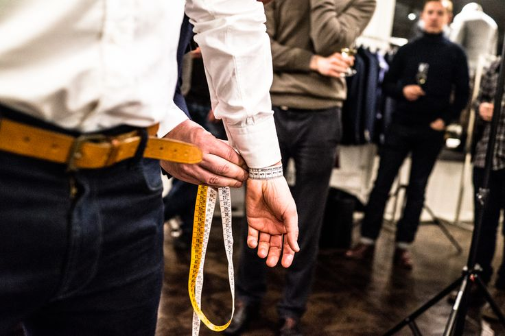 Measuring the wrist for made-to-measure shirt. Photo (c) Risto Kantola