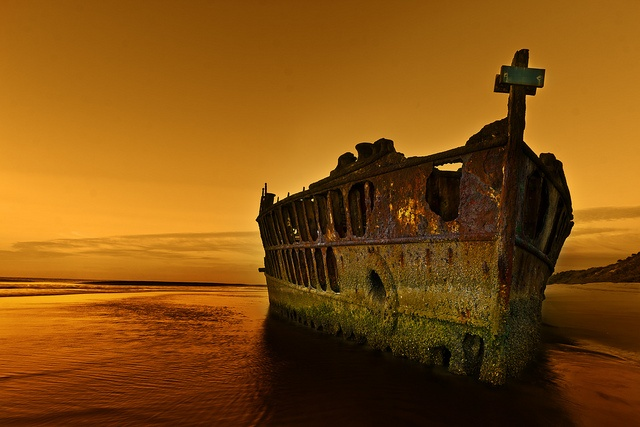 The S.S. Maheno was an Edwardian liner on the Tasman Sea crossing between New Zealand and Australia, and was used as a hospital ship by the New Zealand division of the Royal Navy during World War I ~ Hervey Bay,Queensland, Australia