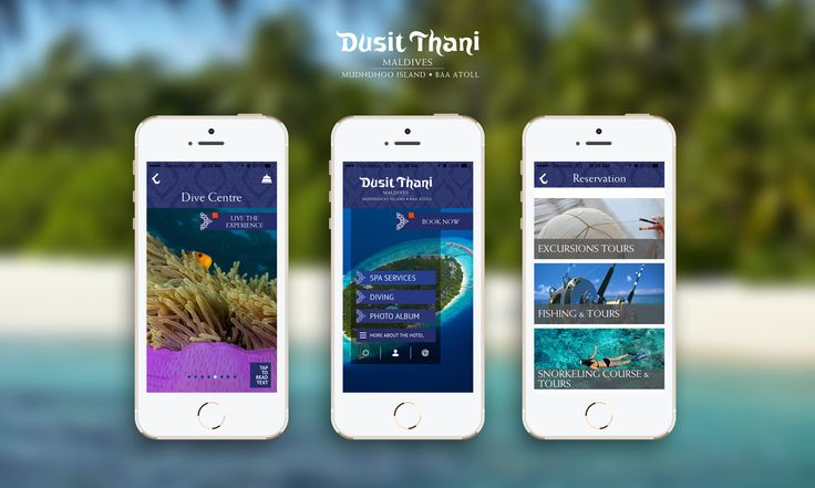 """Introducing the Dusit Thani Maldives Mobile App – Book your Spa treatment or SCUBA diving trip right from your phone or iPad. Search for """"Dusit Thani Maldives"""" in your App Store / play store and download now! #Maldives #DusitThaniMV #Mobile #app #official #M-Hospitality #DusitThani #dusithotel #travel #luxury  iOS: https://itunes.apple.com/us/app/dusit-thani-maldives/id895383448?mt=8 Android: https://play.google.com/store/apps/details?id=com.hstech.dusit"""
