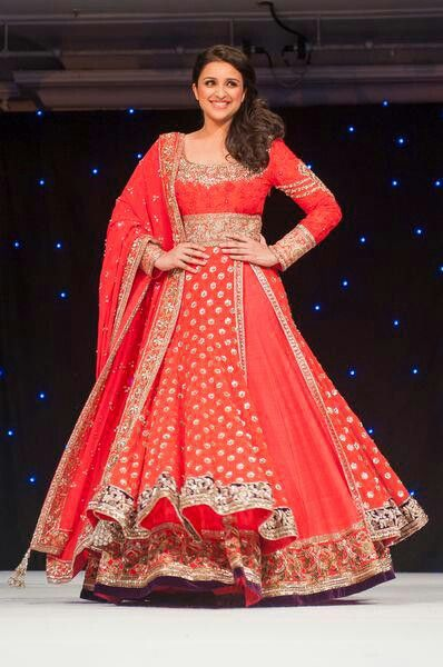 Red beautiful .anarkali ..design by ..my favourite ..manish malhotra ...