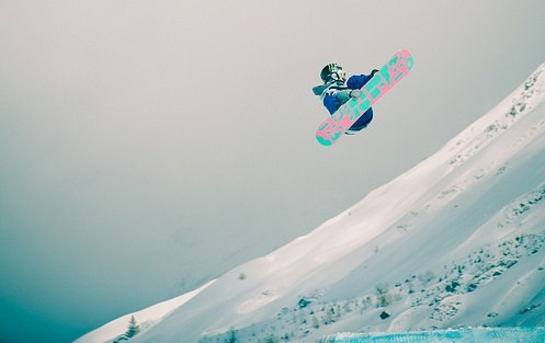 learn how to snow board. [ ]