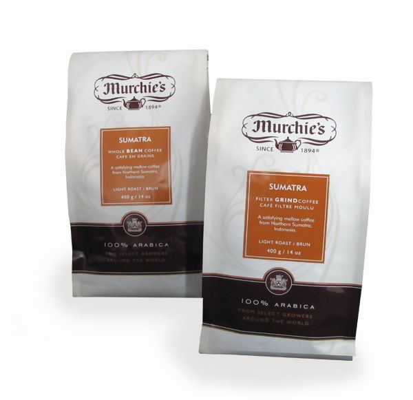 Murchie's Sumatra Coffee is a smooth, mild cup from Indonesia with lots of flavour and little bite. Roasted lightly to bring out the beans' sweetness, with hints of spice, brown sugar and dried fruits. Surprising body for a light roast bean