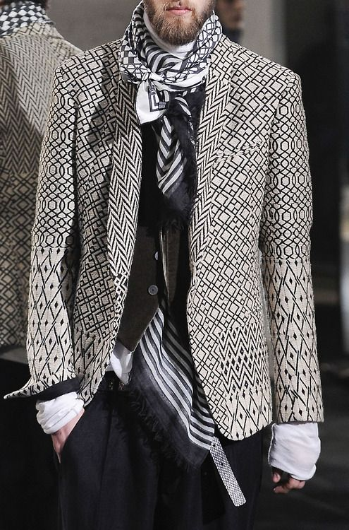 Great layering in monochrome. Haider Ackermann shows how it's done... This jacket though..