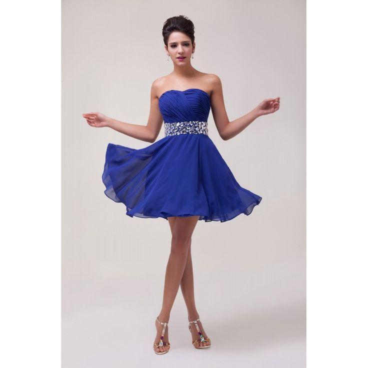 Tmavomodré spoločenské šaty CL4792