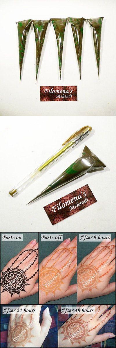 Henna Paste and Powder: 5 Henna Cones, Henna Tattoo Kits, Henna Kit, Henna Pack, Henna Art, Boho Art -> BUY IT NOW ONLY: $30 on eBay!