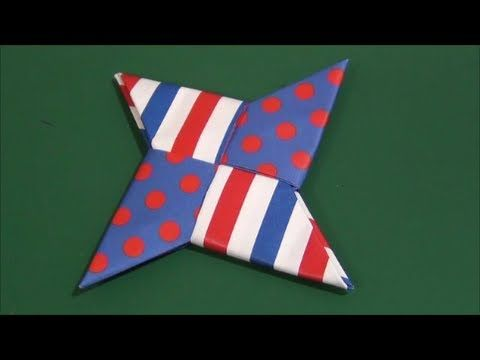 """Ninja star""origami「手裏剣」折り紙"