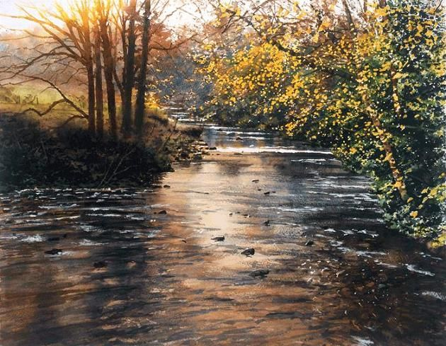 river-landscape-paintings.jpg 630×489 pixels Joe Francis Dowden is a landscape watercolor artist from Britain.
