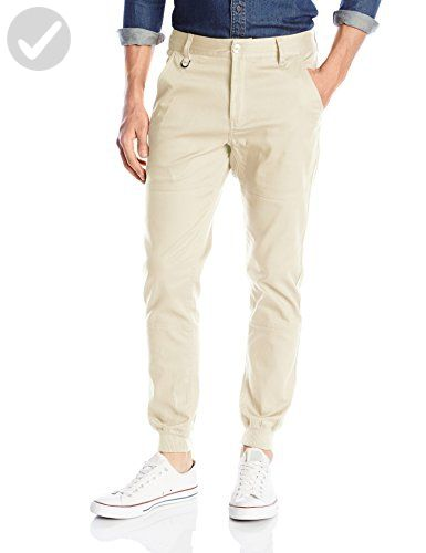 PUBLISH BRAND INC. Men's Legacy Stretch Jogger Pant with Water Resistant Coat, Off White, 36 - Mens world (*Amazon Partner-Link)
