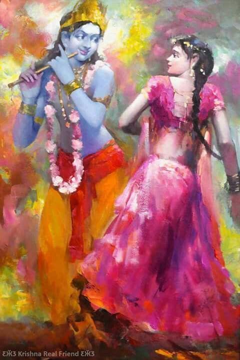 Painting of RadhaKrishna More