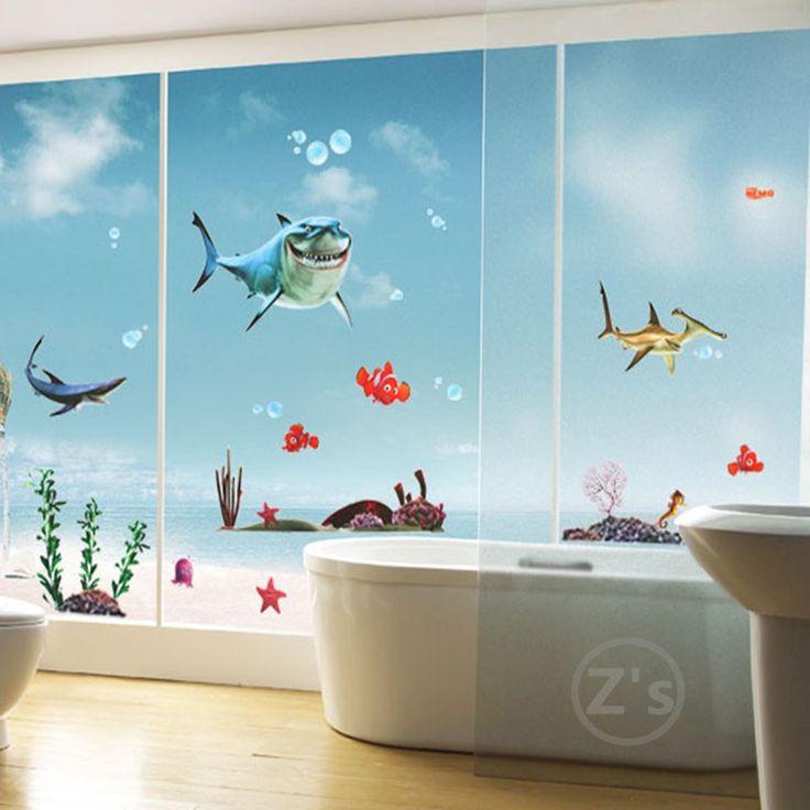 mediterranean style fish wall sticker cartoon wall decal wall sticker kids fishes stickers wall vinyl