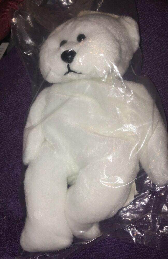 National City Bank And The March Of Dimes White Bean Bag Bear Plush New Sealed Ebay Bear Plush White Bean Bags Plush
