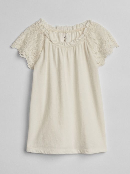 4a208892 Gap Baby Crochet T-Shirt New Off White | Products in 2019 | Crochet ...