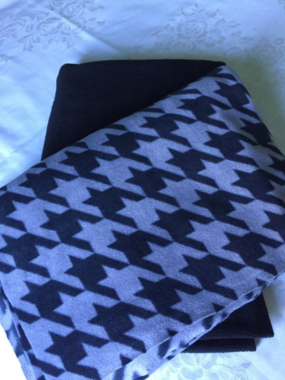 Large and cozy herringbone fleece tie by BriersBlankets on Etsy