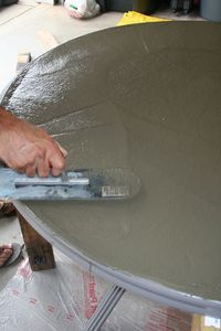 How to Create a Concrete Table Top for Your Patio Table