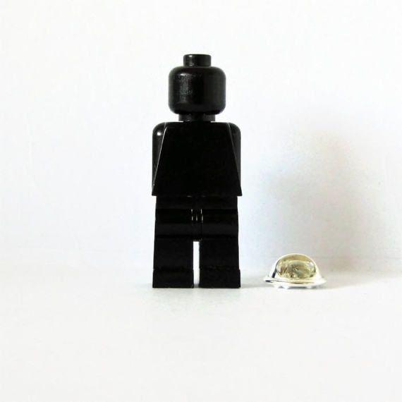Minifigure Pin-Lapel Pin-Chic Pin-Black Minifugure-Best Friend Gift-Nerds Birthday Gift-Geek Brooch-Minifigure Brooch-Unisex Pin-Pin for Him