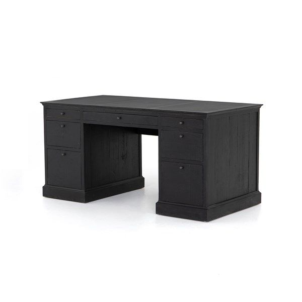 Office Ivy Executive Desk Matte Black Executive Desk Bookcase Styling Desk