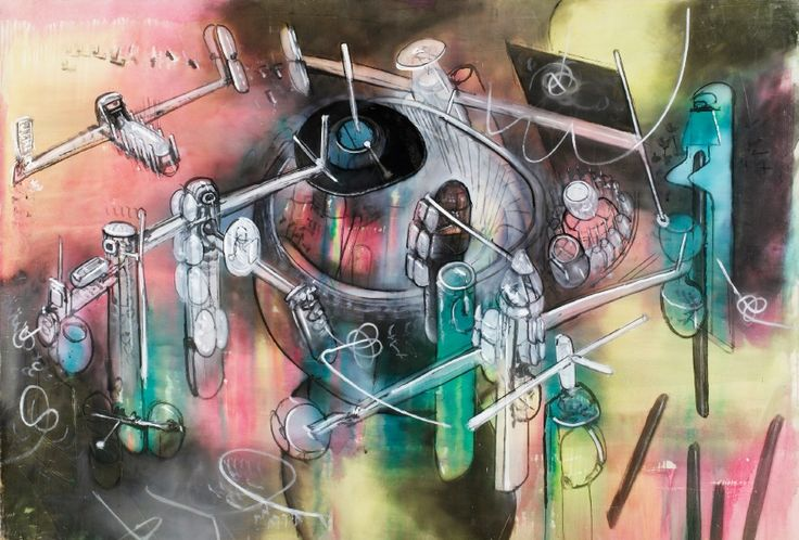 """""""The Surrealist Roberto Matta,"""" an exhibition of works made in the 1950's by the Chilean-born artist, is on view at the Ann Norton Sculpture Gardens in West Palm Beach, Florida, through May 18."""