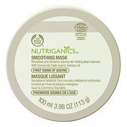 The Body Shop Nutriganics Smoothing Mask, 3.98 Ounce by The Body Shop. $14.95. Nutriganics skincare line is clinically proven to reduce the appearance of fine lines and wrinkles in just 4 weeks. We use Community Fair Trade ingredients so you can feel confident with the quality of our products and this allows our suppliers to build better futures for themselves and their communities.. Best for those concerned with the first signs of aging. We have never tested our product...