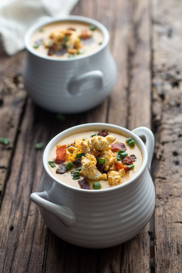 Cheddar Ale Soup with Chili Cheese Popcorn¦ Half Baked Harvest