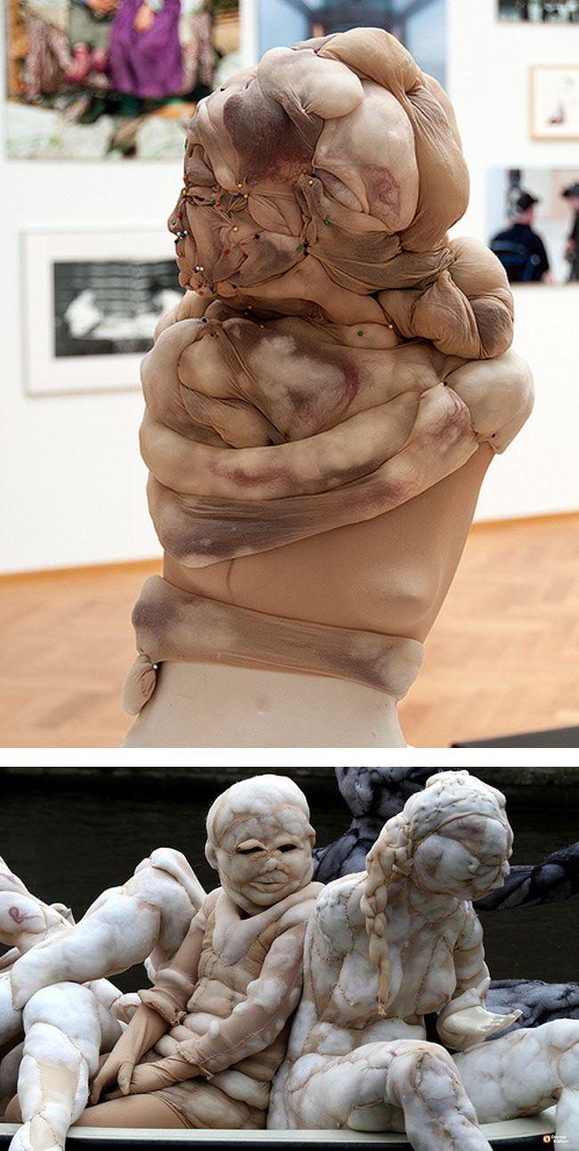 Rosa Verloop creepy  nylon sculptures