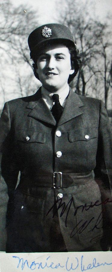 Monica Whelan, member of the RCAF Women's Division, at RCAF Centralia, Ontario, probably in 1943 or 1944. For more: www.elinorflorence.com/blog/rcaf-women-photographer