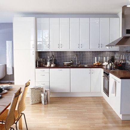 Kitchen ikea abstrakt high gloss white for High gloss kitchen units