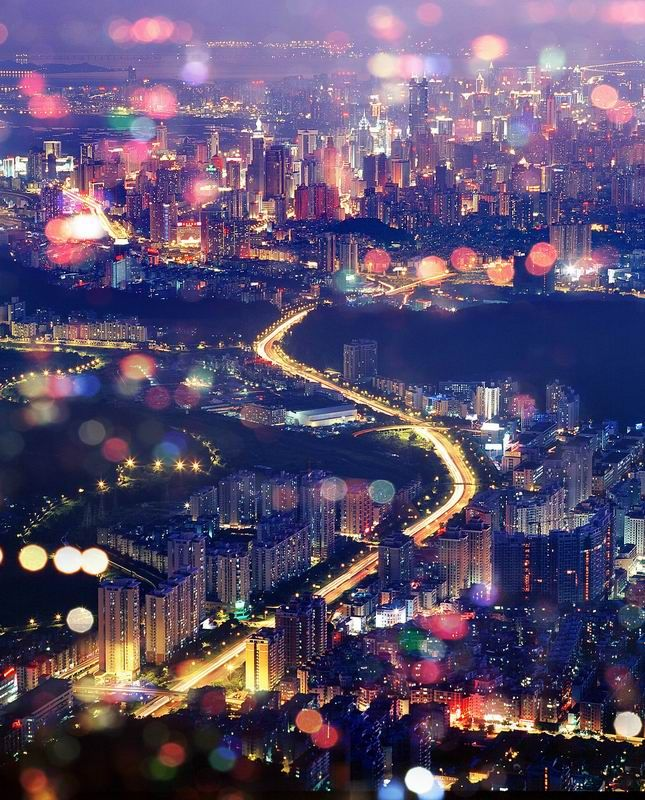 Hustle and bustle in Shenzhen, China - breath taking city!