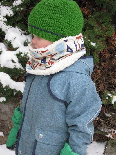 Kinderschal.Diy Nähen, Ideas For, Sew For, Ideen Aus, For The, Nice Tutorials, Anleitung Halssocke, Sewing Ideas, Für Kids