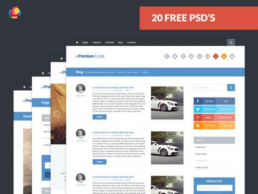 Web Template - 20 Free PSD's | TheFreebieBay.com