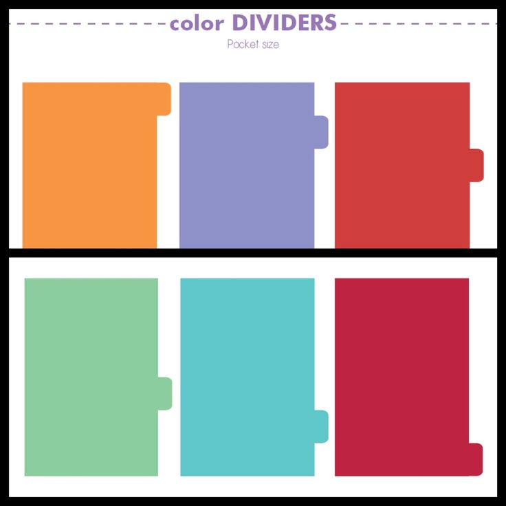 ... -archive: Free Printables: Plain Dividers (personal + pocket size