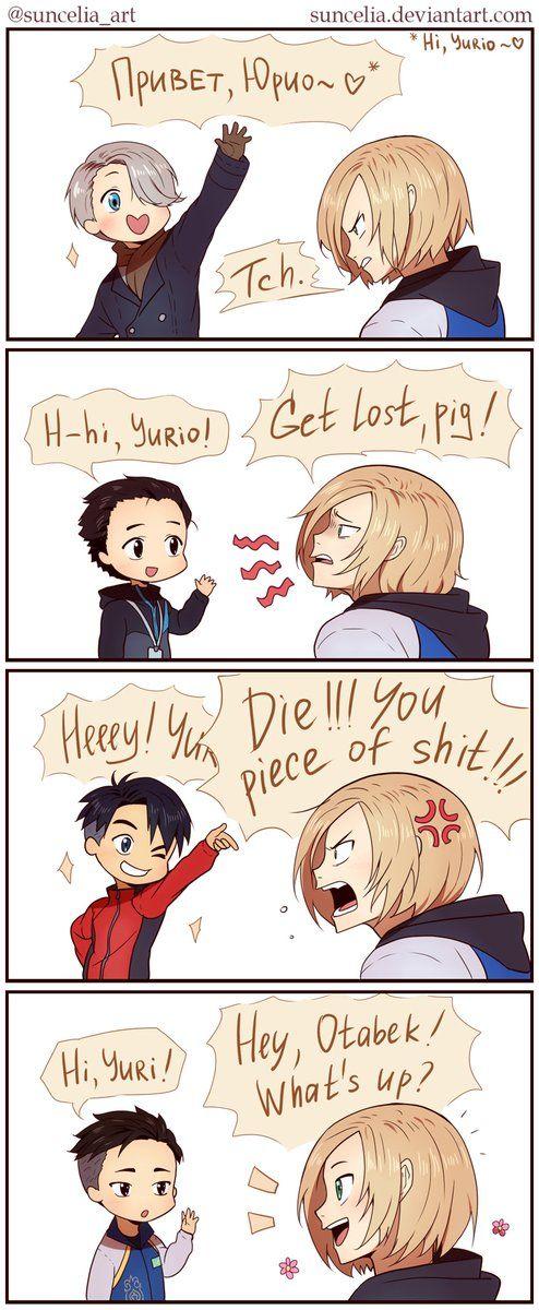 """""""Hi, Yuri! #yoi #yurionice"""""""