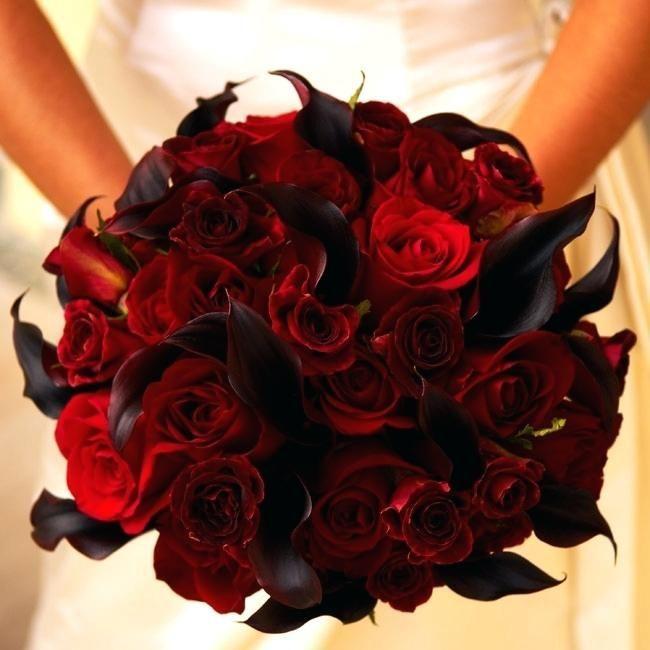 Black Flower Arrangements Yes Indeed Red Black Wedding Bouquets