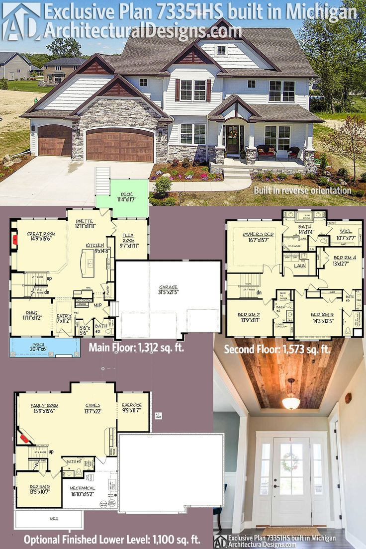 Our client built Exclusive House Plan 73351HS