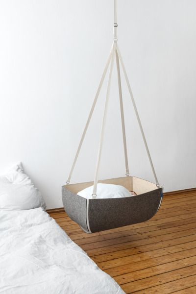 ❖ Hanging Bassinet   Baby Cot   Cradle made of flexible plywood and felt   ETSY…