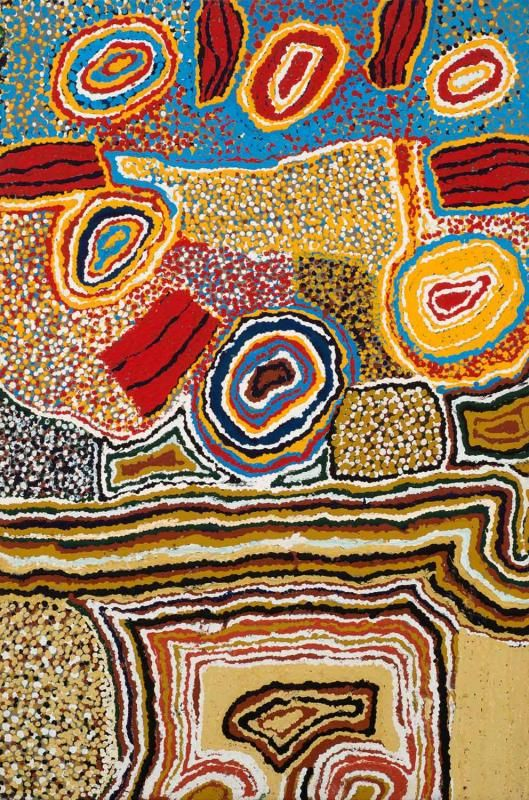 NORA WOMPI (NUNGURRAYI) (BORN 1935) Artist's Country (Well No. 33, Canning Stock Route) (1993) - Price Estimate: $2000 - $3000