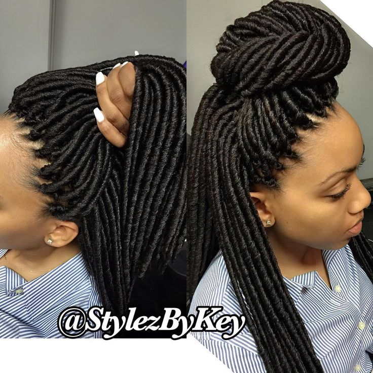 "VoiceOfHair (Stylists/Styles) on Instagram: ""Natural Looking Faux Locs Crochet styled by @stylezbykey  Bold, Trending Protective Styles for this Spring/Summer Season ‼️ ✈️Traveling Braider & Instructor with 12+ yrs Experience In the braiding industry."""