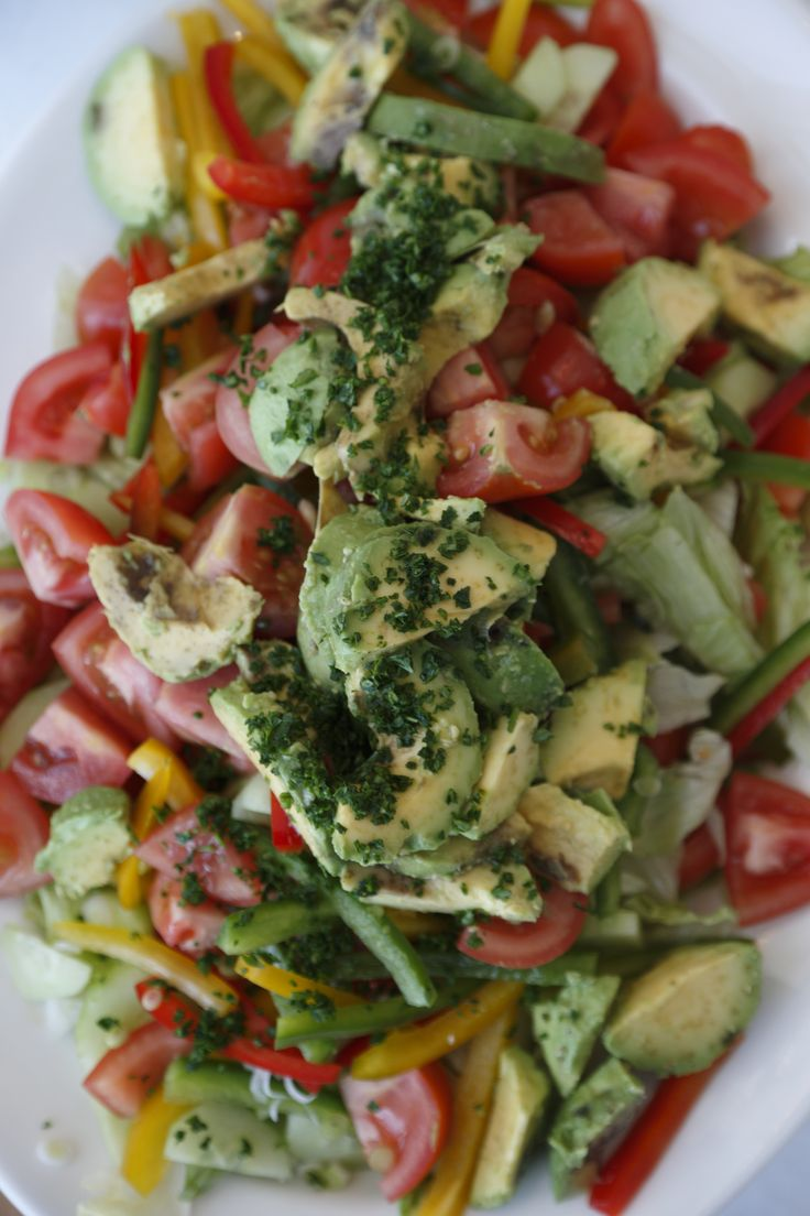 Delicious salad served for our guests