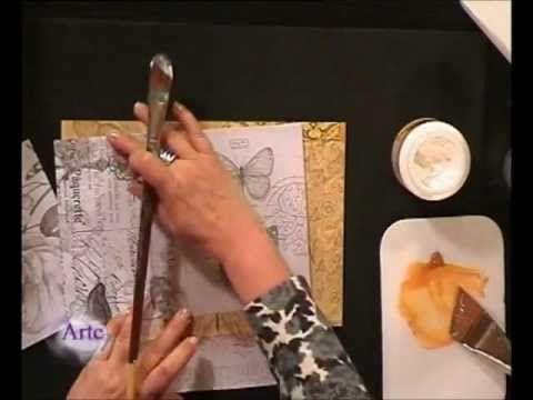 Cómo decorar con collage en telas y láminas una caja y un cuadro - YouTube
