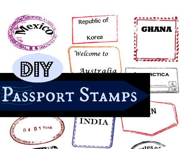 Editable Passport Stamps Template More  Free Passport Template For Kids