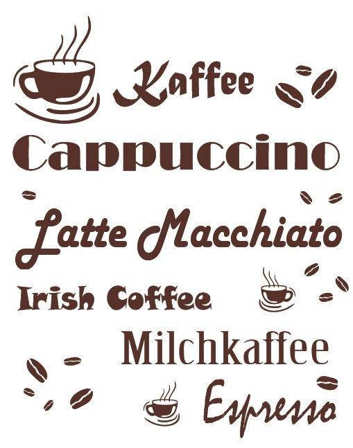 Spectacular Wandtattoo Kaffee