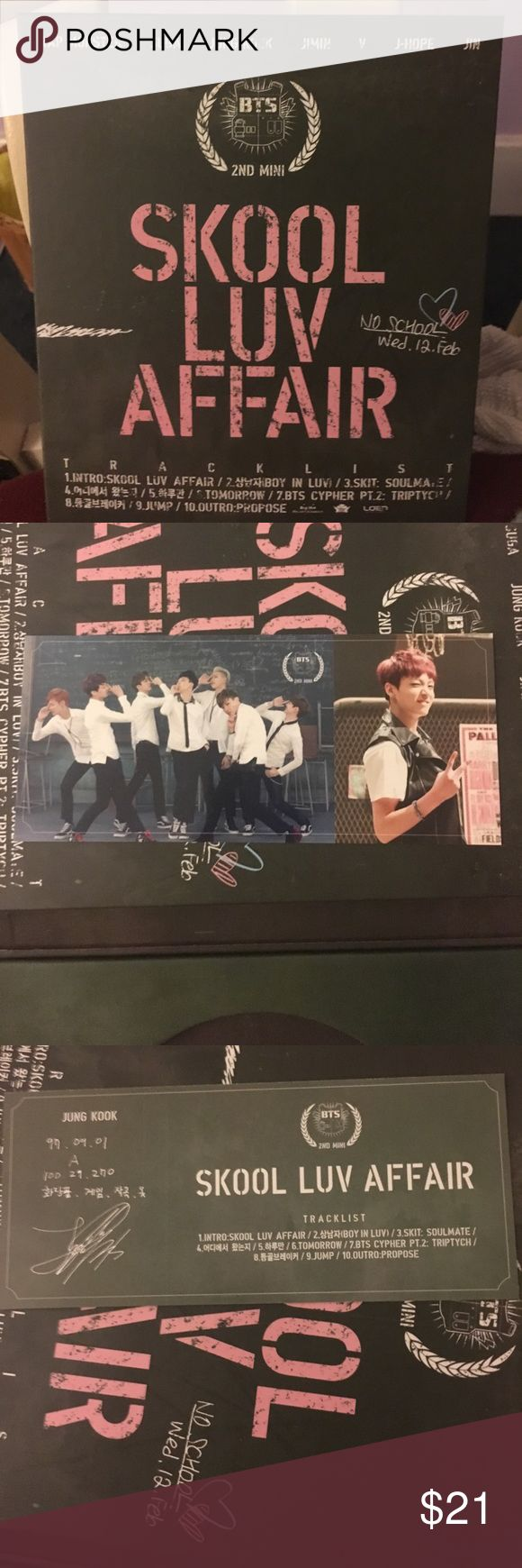 Bts skool luv affair Cd used once! With jungkook pc Accessories