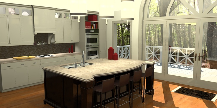 Kitchen Modeled With Sketchup Rendered With Imsi Design 39 S Renditioner Pro V3 Renditioner For