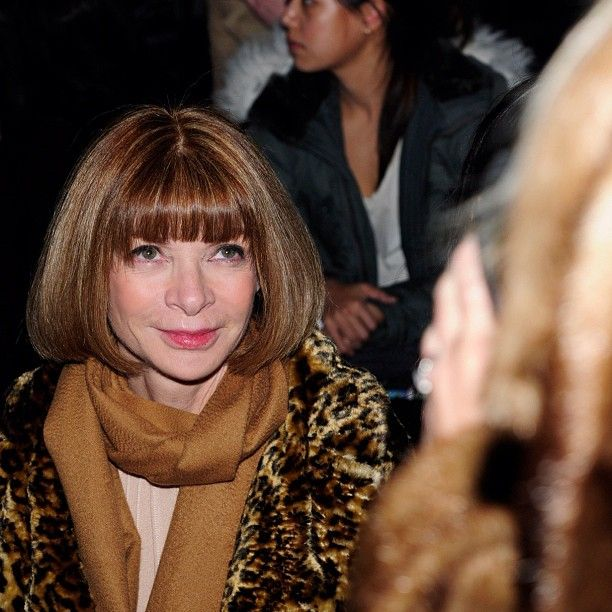 @kurtdietrich captures Anna Wintour at Alexander Wang...almost smiling.