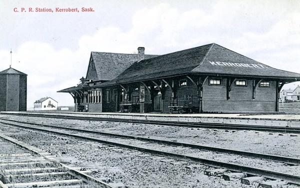 C. P. R. Station, Kerrobert, Sask. | saskhistoryonline.ca