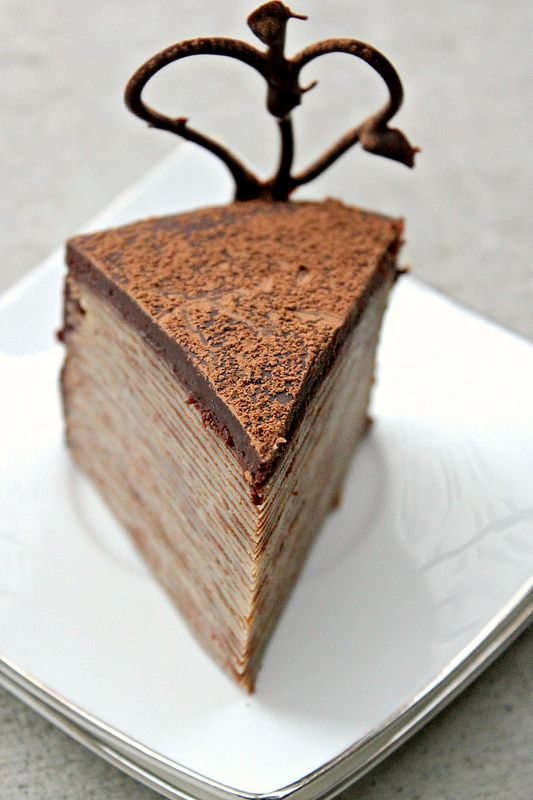 30 Layered Nutella Crepe Cake