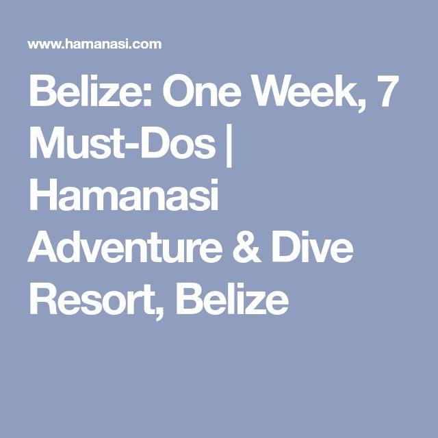 Belize: One Week, 7 Must-Dos | Hamanasi Adventure & Dive Resort, Belize