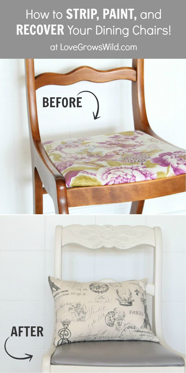 EVERYTHING you need to know about Stripping, Painting, and Recovering your dining chairs! Get step-by-step instructions and the best product...