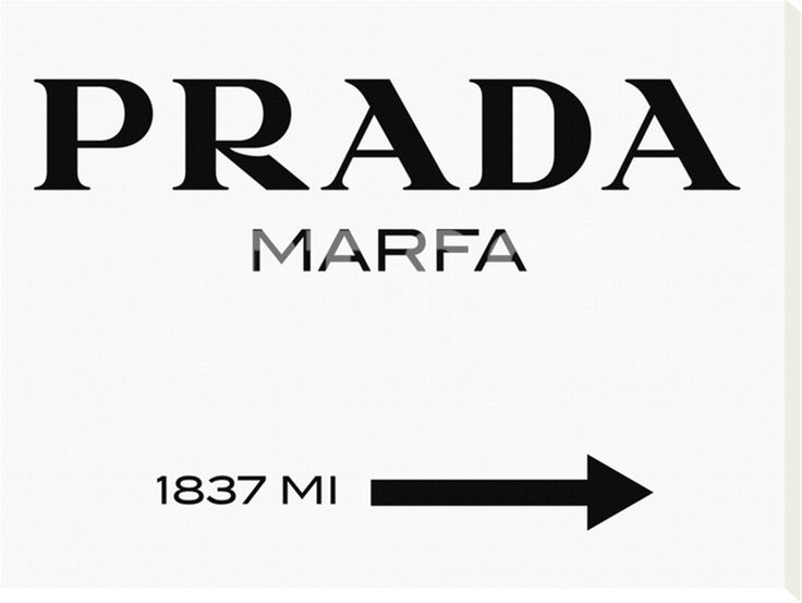 Prada Marfa Sign Stretched Canvas Print by Elmgreen and Dragset at Art.com