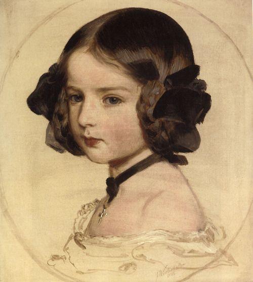 Princess Clothilde von Saxen Coburg by Franz Xaver Winterhalter (1805-1873), 1855.