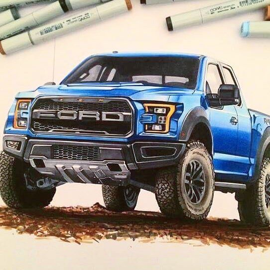 Cheap Cars For Sale >> #ford #f150 #raptor #drawing #sketch #copic #marker # ...
